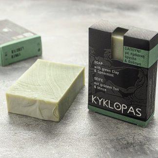 sapun natural cu argila verde si menta 120g kyklopas