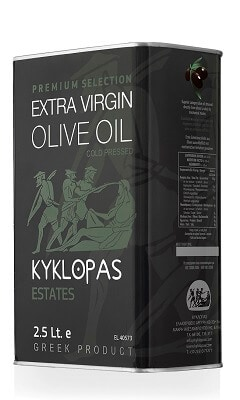 ulei de masline extravirgin 2.5l kyklopas premium selection
