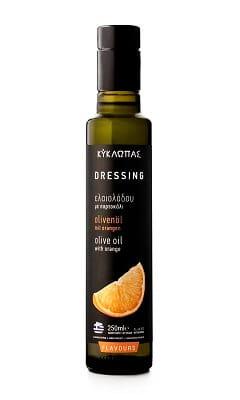 ulei de masline extravrigin cu portocala 250ml kyklopas dressing salata